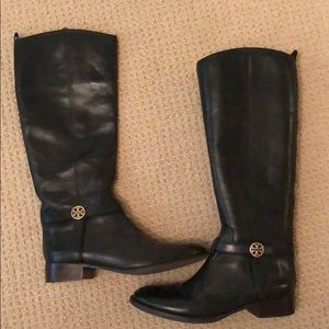Tory Burch Bristol Black Leather Boots- size 11